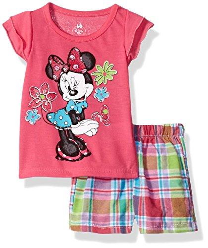 Girls Pink Plaid Shorts - 4