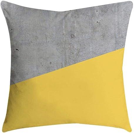 VJGOAL Impresión Amarilla Suave cómodo Funda de Almohada Sofá Cintura del Coche Cojín Cuadrado Cubierta Decoración para el hogar(45_x_45_cm,Multicolor10): Amazon.es: Hogar