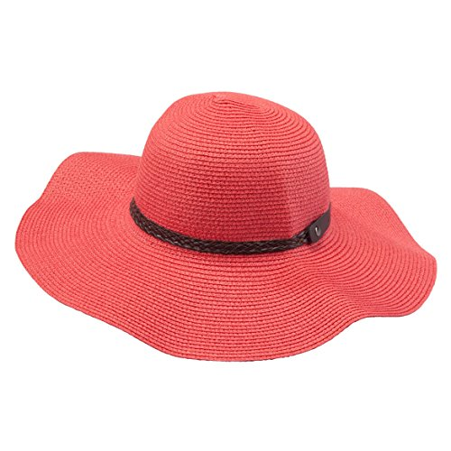 SunLily Women's Roll-n-Go Sun Hat, Coral, One Size (Sun Coral)