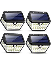 Solar Lights Outdoor, [2019 Newest Model 60 LED - 800 Lumens] iPosible Motion Sensor Security Lights 270º Wall Lights Solar Powered Lights Wireless Waterproof with 3 Modes for Garden Outside (4 Pack)