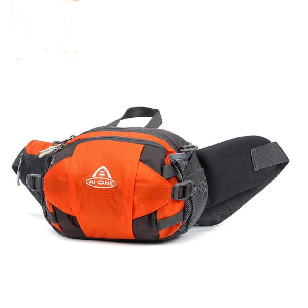 Reisen Sport Bauchtasche Diebschutz Raub Verhinderung Klappbar Wasserdicht Gürteltasche für Damen und Herren (Farbe : Orange)