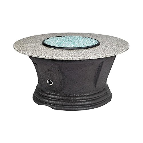 American Fire Products San Simeon Series Outdoor Gas Fire Pit Table by, Round, 48-Inch, Sunset Gold Granite Top (Top Granite Sunset Gold)