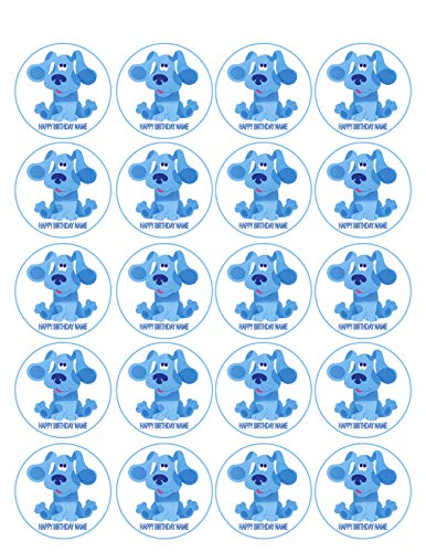 (BLUE'S CLUES - Edible Cupcake Toppers - 1.8
