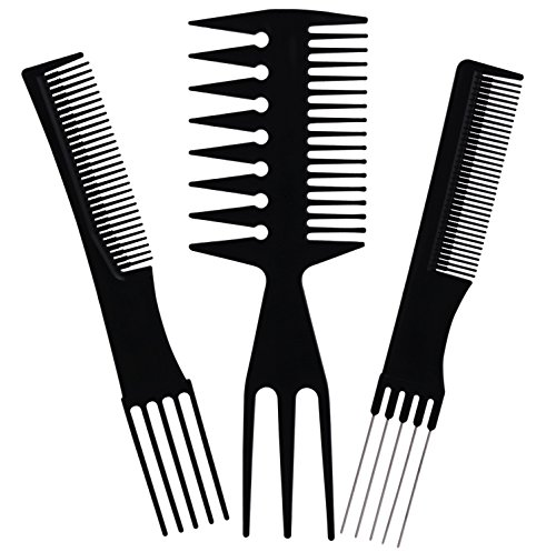 BS MALL 10PCS Hair Stylists Professional Styling Comb Set Variety Pack Great For All Hair Types Styles