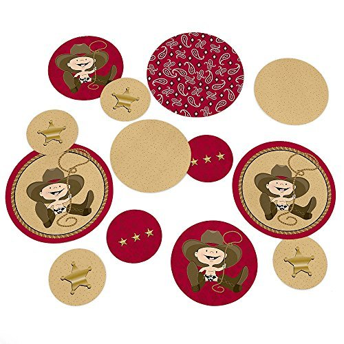 Little Cowboy - Western Party Table Confetti - 27 Count (Western Table Centerpieces)