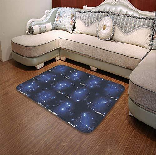 YOLIYANA Custom Carpet,Constellation,for Children Bedroom Corridor,55.12