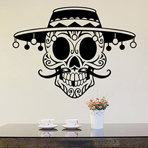 """LUNIWEI Happy Halloween 23*31"""" PVC Self Adhesive DIY Interior Room Creative Decoration Party Decal Wall Sticker"""