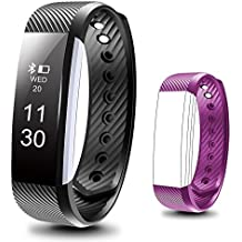 Beartwo Fitness Tracker, Smart Bracelet IP67 Waterproof Bluetooth Smart Remote Self-Timer Smart Watch Activity Tracker Calorie Counter Band Sleep Monitor For Android iOS Phone