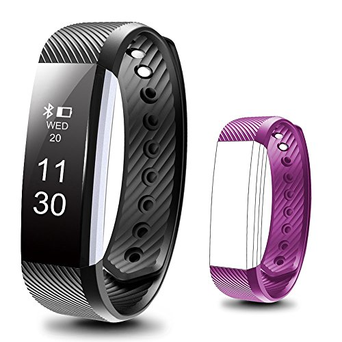 Fitness Tracker,Beartwo Smart Bracelet IP67 Waterproof Bluetooth Smart Remote Self-Timer Smart Watch Activity Tracker Calorie Counter Wireless Sport Band Sleep Monitor For Android iOS Phone