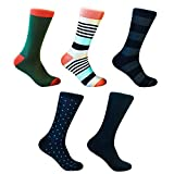 Colorful-Dress-Socks-by-Related-Garments-5-Pack-Will-not-slide-down-fits-men-size-10-13-Assorted