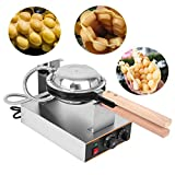 Ridgeyard 110V Electric Non-stick Egg Cake Oven Puff Bread Maker Stainless Steel Commercial Waffle Bake Machine