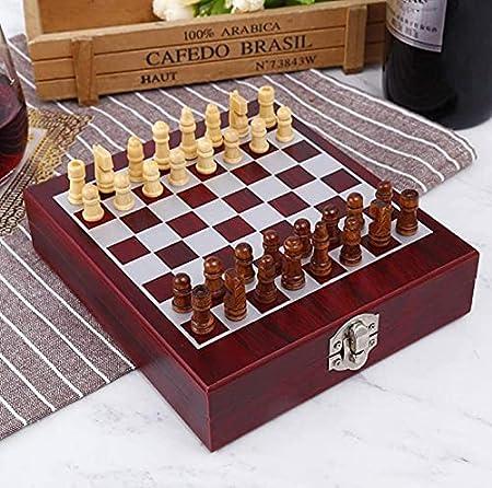 Caja de madera para vino con diseño de conejo, sacacorchos, herramientas, sacacorchos, vino y corcho, caja de embalaje para los amantes de los amantes
