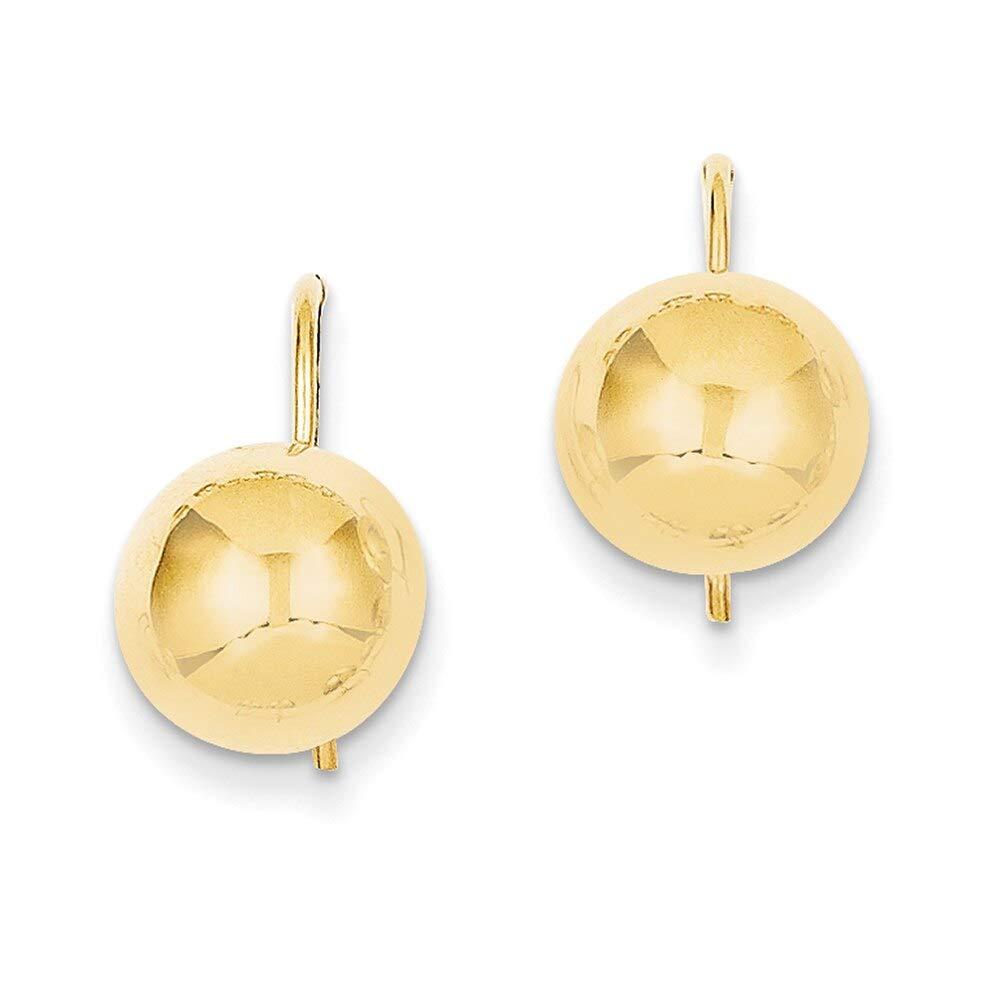 Lex /& Lu 14k Yellow Gold 10.50mm Hollow Half Ball Earrings