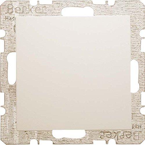 Hager S1 –  Platte Blind mit Keilrahmen Greifer Glanz Weiß