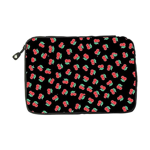 (Cute Cerise Cherry Electronic Accessories Bag Travel Storage Bags Universal Zipper Package Multi-Purpose USB Cable Case For Charging Cable)
