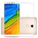 Tingtong Xiaomi Mi Redmi Note 5 Full Body Coloured 9H Hardness 2.5D Anti-Scratch,Case Friendy 0.3mm Tempered Glass [Edge To Edge Screen Covered - RedMi Note 5] (White)