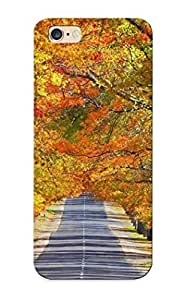 0aea4205021 Landscapes Trees Autumn Roads Awesome High Quality Iphone 6 Plus Case Skin/perfect Gift For Christmas Day
