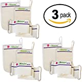 Baiden Exfoliator System-Best Firming Face Body & Back Scrub Mitts (3 Pack)