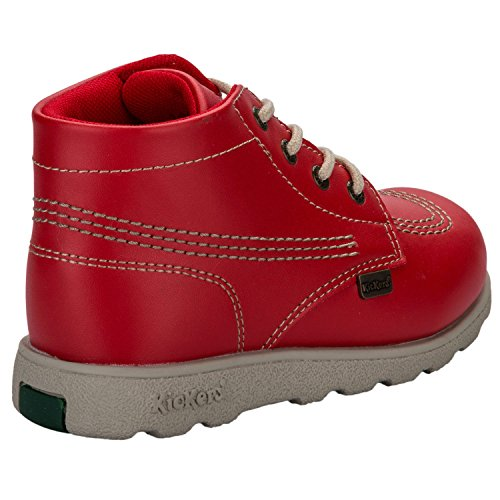Bottines à lacets Kickers Fragma pour enfant en rouge