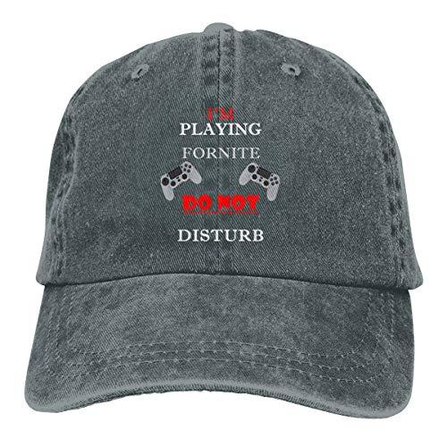 I'm Playing FORNITE DO NOT Disturb Washed Denim Hat Unisex Dad Baseball Caps