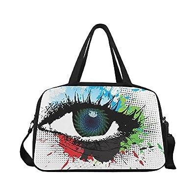 best InterestPrint Abstract Splatter Eye Duffel Bag Travel Tote Bag Handbag  Luggage b5a836b308ff0