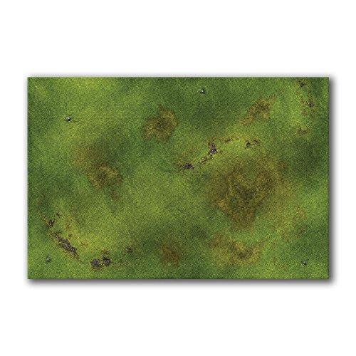 Frontline Gaming - FLG Mat - Grasslands 6x4' - Neoprene Wargaming Mat - Flg Pad