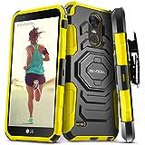 LG Stylo 3 / LG Stylo 3 Plus Case, Evocel [New Generation] Rugged Holster Dual Layer Case [Kickstand][Belt Swivel Clip] For LG Stylo 3 / LG Stylo Plus (2017 Release), Yellow (EVO-LGSTYLO3-XX15)