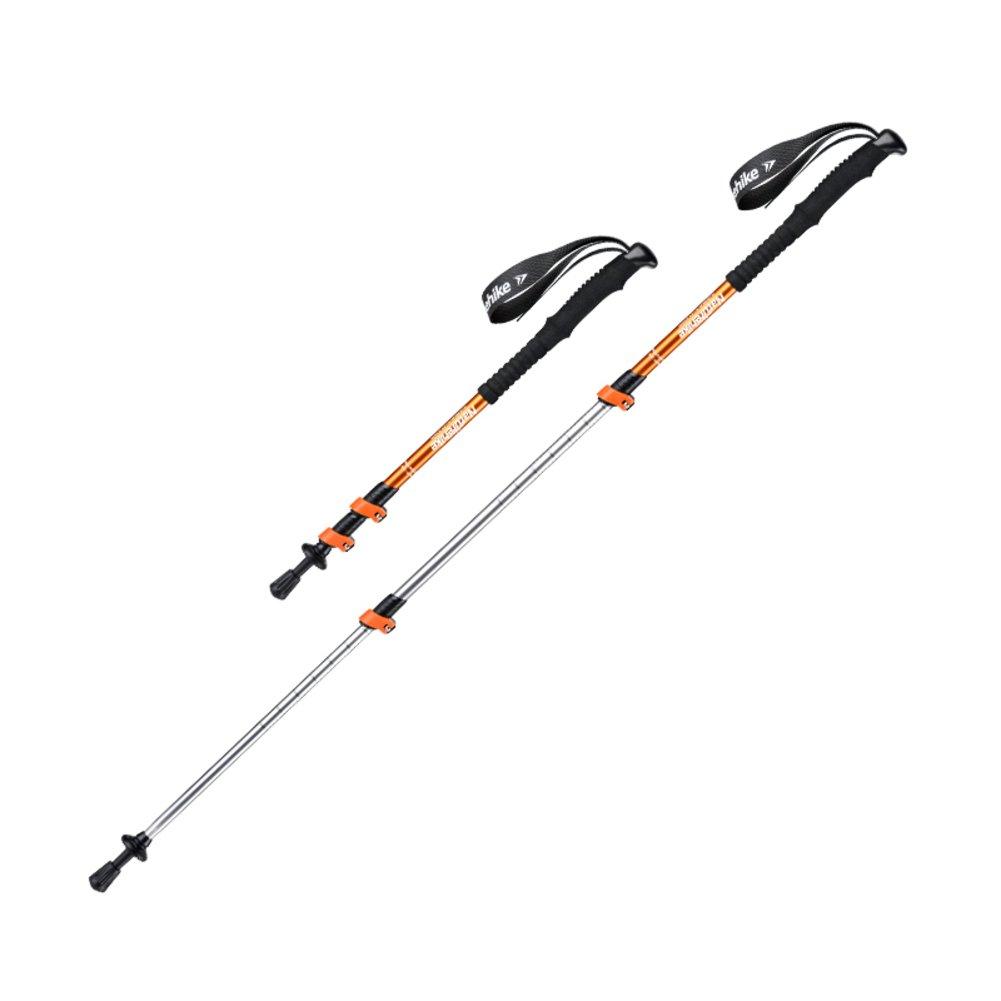 Le Fu yanウォーキングスティック、ハイキング伸縮調節可能なAlpenstock Sticks with EVAフォームハンドルfor women-yellow-e   B07CV8N9MN