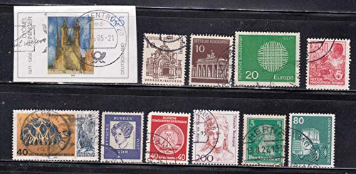 Men Women Buildings Workers Tractors Turtle Germany Cancelled Postage Stamps G2