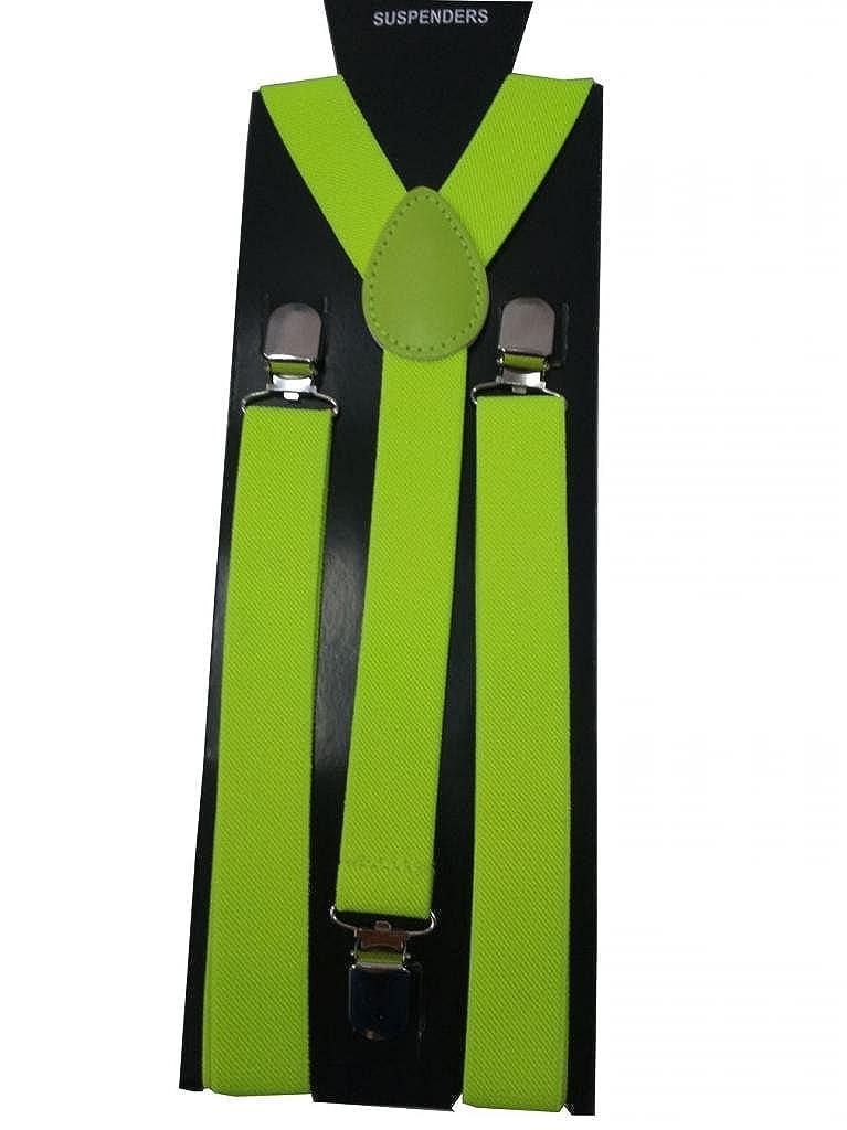 JTC 1PC Unisex Men/Ladies / Women Adjustable Braces Suspenders Y Belt Elastic Suspenders Solid 3Clips-on 10 Colors