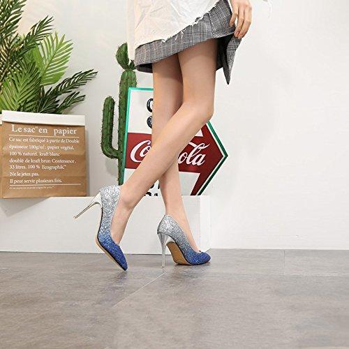 HRCxue Tipp des high-heel Schuhe mit hellen mit mit mit einer einzigen Mutter der Braut Hochzeit Schuhe Frauen Schuhe 39 begleitet 35fc74