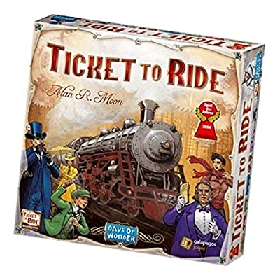 Ticket to Ride United States of America Map | 2 to 5 Players, 60 Minutes | Connect Trains from Canada to Mexico: Toys & Games