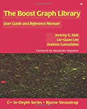 The Boost Graph Library, w. CD-ROM: User Guide and Reference Manual (C++ In-Depth Series)