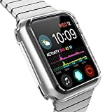 HYKS Compatible with Apple Watch Series 4 Case 44mm, Clear Soft Bumper Case Replacement for iWatch Cover