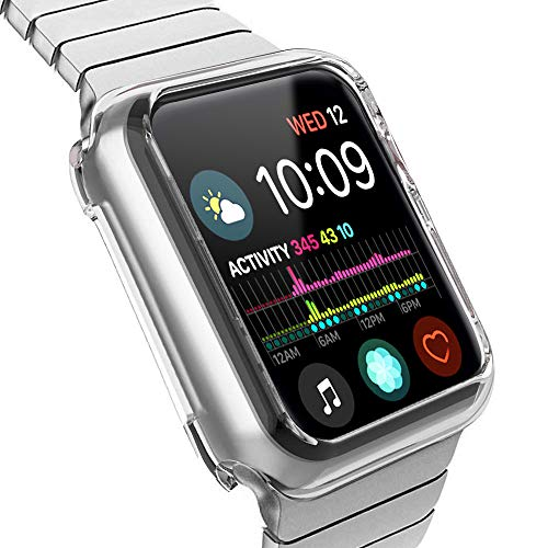 Price comparison product image HYKS Compatible with Apple Watch Series 4 Case 44mm, Clear Soft Bumper Case Replacement for iWatch Cover