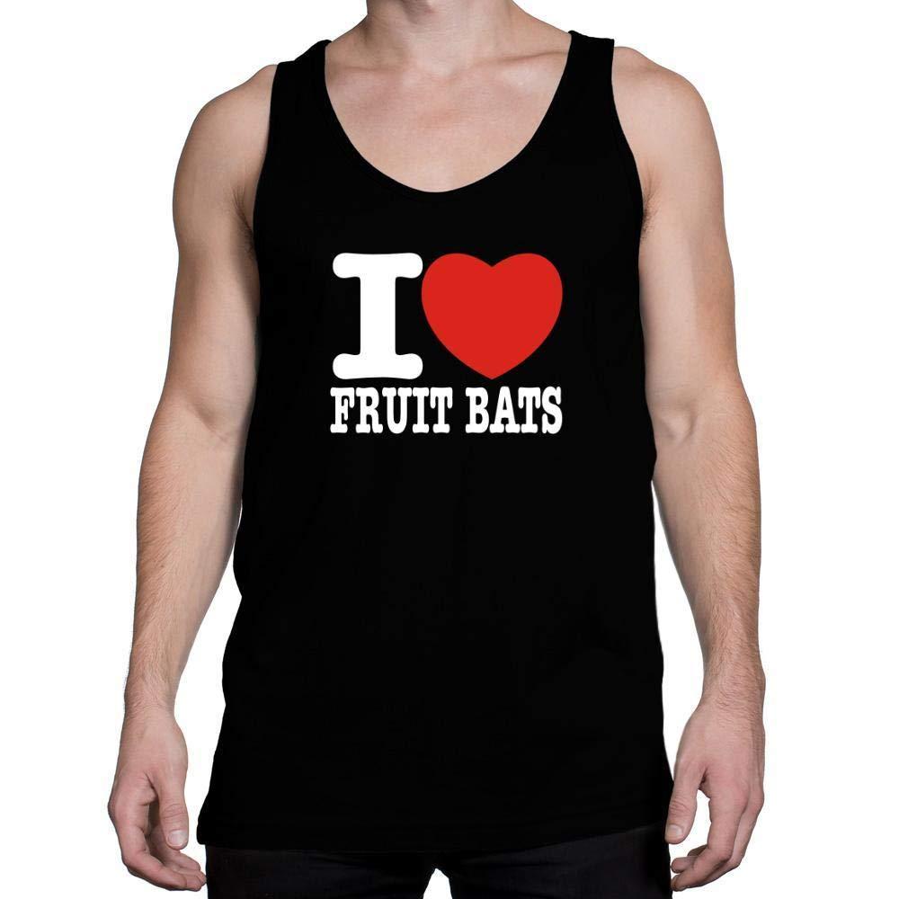 Idakoos I Love Fruit Bats Bold Font Tank Top