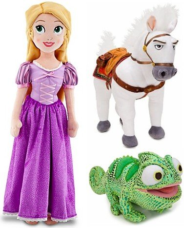 Disney Store Tangled Plush Doll Gift Set Including Rapunz...