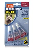 Hartz UltraGuard Flea & Tick Drops For Dogs 16-30 Lbs, 3 monthly treatments, 0.04 oz