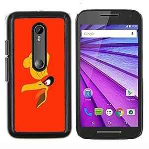 KLONGSHOP // Cubierta de piel con cierre a presión Shell trasero duro de goma Protección Caso - Cartoon Angry Bird - Motorola MOTO G3 / Moto G (3nd Generation) //