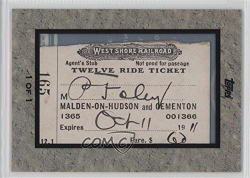 - West Shore Railroad Ticket #1/1 (Baseball Card) 2009 Topps Ticket To Stardom - Framed American Pop Culture Tickets #WSRR