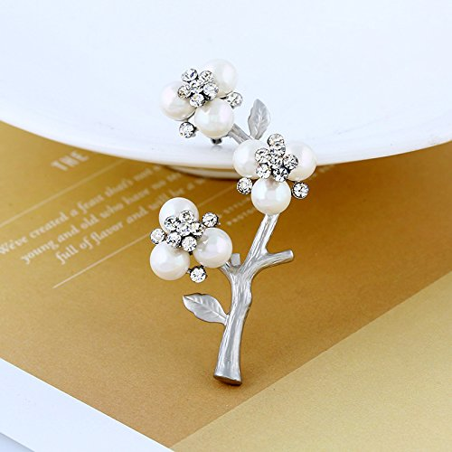 Factory outlets Korean version of the new Ms. natural freshwater pearl brooch jewelry elegant temperament plum blossom brooch - Outlet Ms Of Pearl