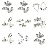 29 Pieces Jewelry Making Charms Flower Tube 5 Strand Reducer Connector 3 Separator End Bars 4 Drop