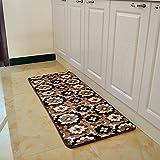 DXG&FX A window mat in the doorway bedside velvet mat bathroom kitchen water absorbent non-slip foot mat-F 20x31inch