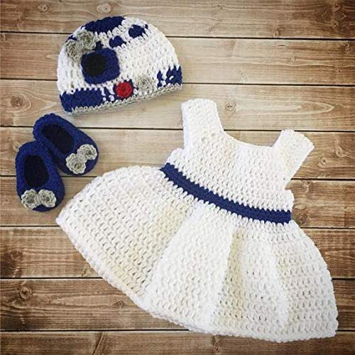 Toddler Kids Girl/&Boy Baby Infant Crochet Knit beanie cap Leia Star Wars costume