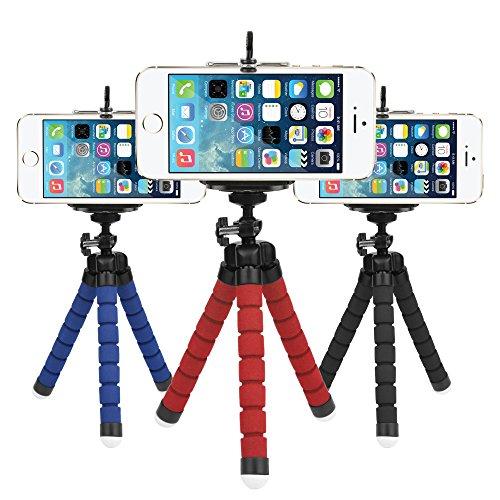 LF Mini Flexible Esponja Pulpo Trípode para iPhone Samsung Xiaomi Huawei Teléfono Móvil Smartphone Trípode para Cámara...