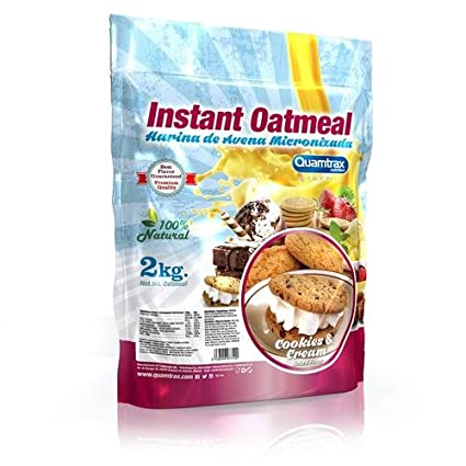 Quamtrax Nutrition Cookies & Cream Avena Instantánea - 2000 gr