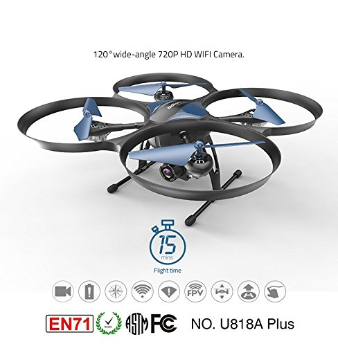 Fytoo Fytoo Fytoo HD FPV Camera 1280 x 720P UDI U818A Plus Drone mit Altitude Hold -fuction Stabile Quadcopter 777566