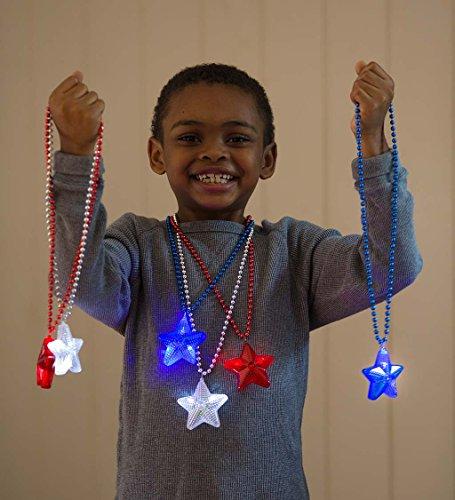Patriotic Light-Up Star Necklaces - Party Favors