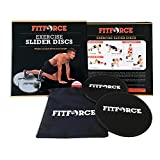 FitForce Gliding Discs Core Sliders Calisthenics Strength Training | Set of 2 Discs | Abdominal Exercise Fitness Equipment