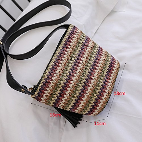 Shoulder Bags Crossbody · Fringed Bag color Shoulder Womens Beach Liu Bag Beach A Shoulder Bag Woven Bag Creative Single Yu Bag House qgZfYB